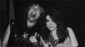 with Bruce Dickinson of Iron Maiden, circa 1983