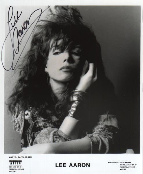 1989 promo autographed