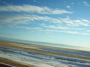 Vast, flat, dry, tundra-like expanses