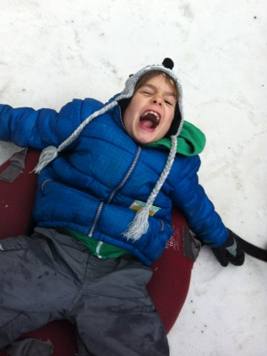 Jett having entirely too much fun in the snow.